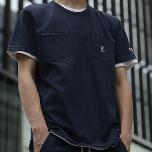 CHAMPION X BEAMSAPPAREL COLLECTION SS17 Crewneck Pocket Tee